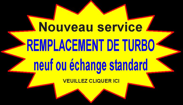 Nouveau service : remplacement de turbo, neuf ou échange standard